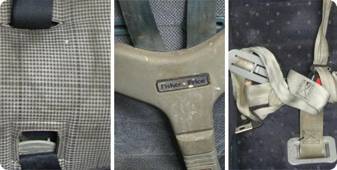 Unsafe and Aged Car Seats at Advantage Rent A Car