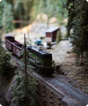 Model train at the Granville Island Model Train Museum in Vancouver BC
