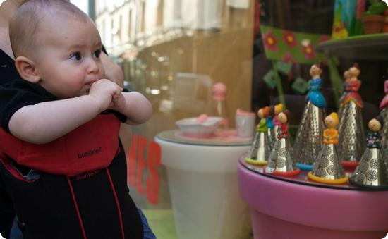Window Shopping with a Baby in Paris
