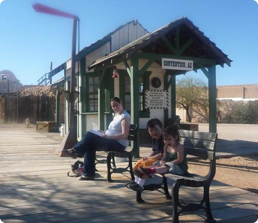 Waiting for the Train at Old Tucson Studios