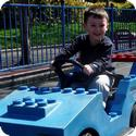 "Driving a car at LEGOLAND's ""driving school"""