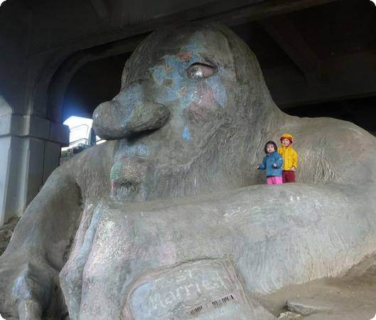 Troll Under the Bridge in Seattle's Fremont Neighborhood