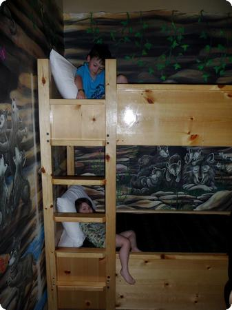 Bunk Beds at the Great Wolf Lodge in Grand Mound, WA