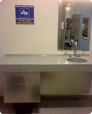 Changing table in Chicago O'Hare Airport