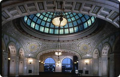 Preston Bradley Hall - Tiffany Glass Dome