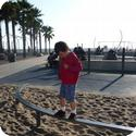 Balance Beam on the Playground on Santa Monica's Muscle Beach
