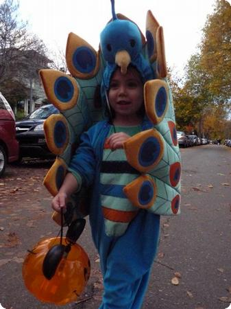 D enjoying a neighborhood Halloween parade