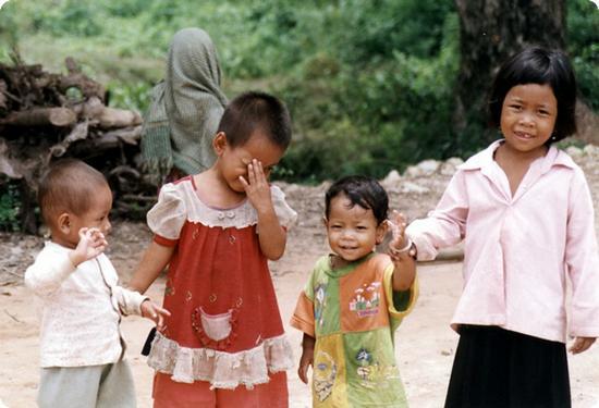 Kids in Phnom Penh Cambodia