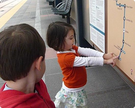 Checking out a Link Light Rail Map