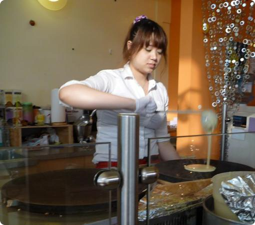 Crepe Making at Unicorn Crepes