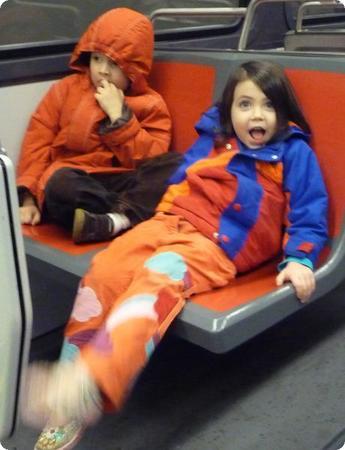 Kids on the San Francisco Muni Train