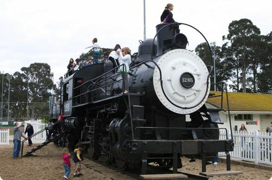Dennis the Menace Park Train - Donated to the park in 1956