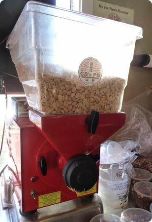 Fresh Peanut Butter at CB's Nuts in Kingston, WA