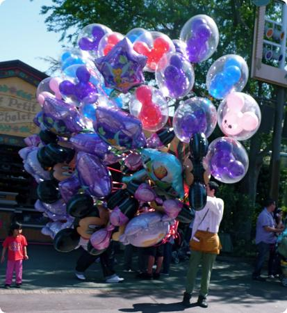 Balloon seller at Disneyland