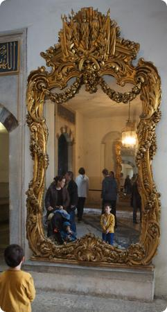 Mirror in Topkapi Palace harem, Istanbul
