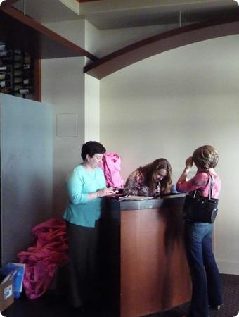 Checkin Desk at the Woodmark Hotel