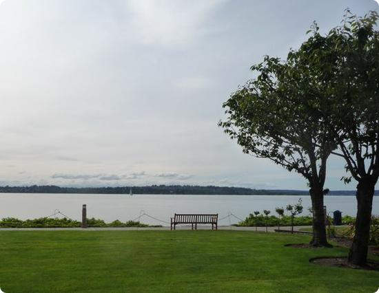 View of Lake Washington and the Olympic Mountains from the Woodmark