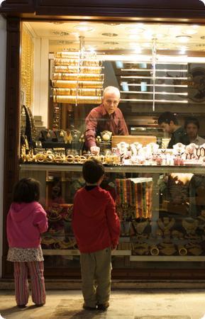 Gold shop in Istanbul's Grand Bazaar