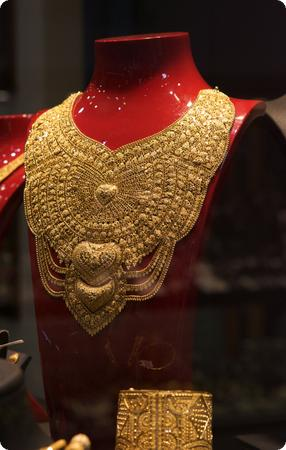 Gold Necklace in Istanbul's Grand Bazaar