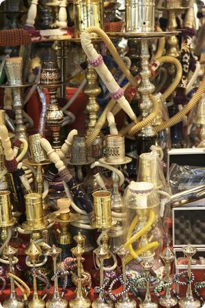 Hookah Pipes in Istanbul's Grand Bazaar
