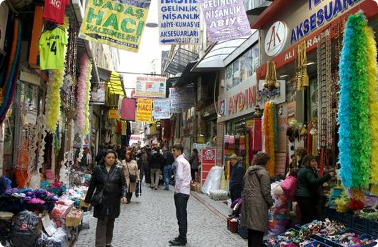 One of the streets leading to Istanbul's Grand Bazaar.  This is where the locals really shop.
