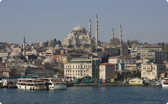 View of Istanbul from the Galata Bridge