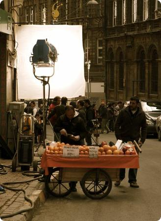 Movie filming in Istanbul