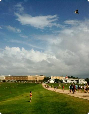 Kite flying at Castillo San Felipe del Morro in San Juan Puerto Rico