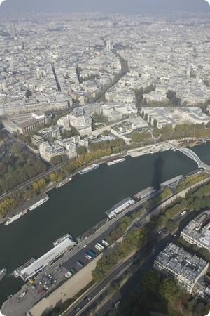 The Seine river as seen from the Eiffel Tower