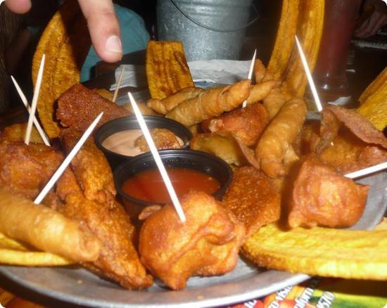Appetizer platter at Raices Restaraunt in San Juan Puerto Rico