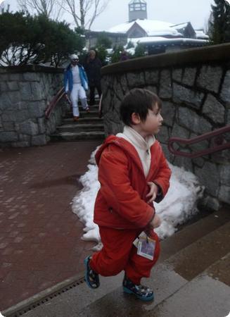 Everest heads to Ski School at Whistler Kids