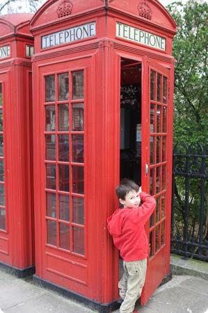 Everest checks out one of London's iconic red phone booths