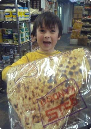 Lavash Bread at Yaas Bazaar in North Vancouver