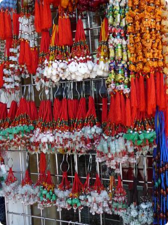 Shops stocked to bursting with Chinese Tchotchke in Honolulu's Chinatown