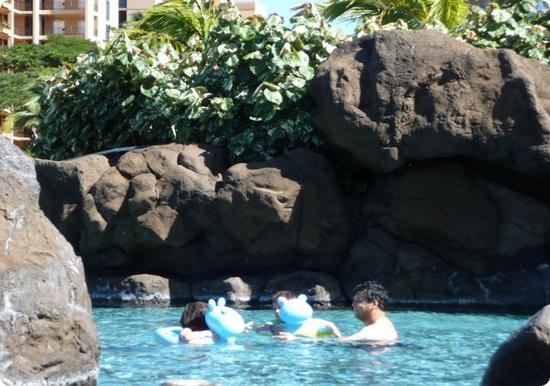 Cove for young kids at the Honua Kai Resort in Kaanapali Beach, Maui