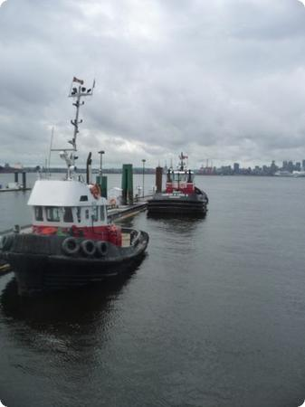 Tugboats at the Lonsdale Quay Market