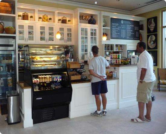 The Sandpearl Resort's lobby coffee shop stocks takeaway and grocery items too