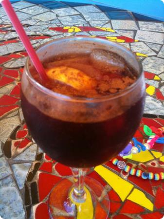 Sangria at Frenchy's Cafe in Clearwater Florida