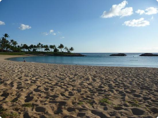 Aulani's protected lagoon and beach