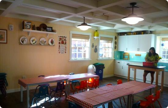 Auntie's kitchen is the place for snacks (included) and messy crafts