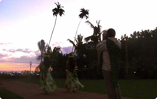 Sunset Ceremony at Disney's Aulani Resort on Oahu