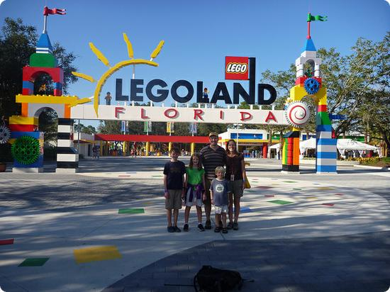 Kristen and her family at the LEGOLAND Florida Grand Opening