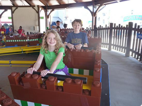 One of many Lego rides at the new LEGOLAND Florida