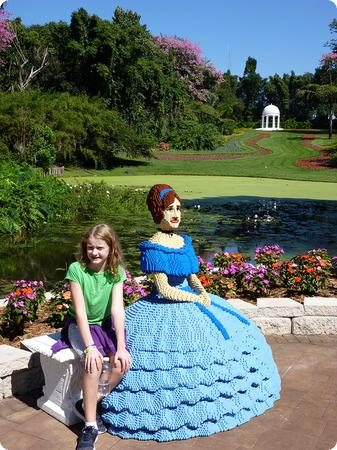 A relaxing afternoon with a Southern Belle at Legoland Florida's historic grounds