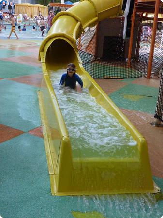 Waterslide at Nickelodeon Suites Resort in Orlando Florida