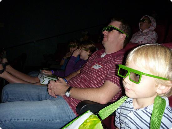 Watching a movie at Nickelodean Suites Resort in Orlando Florida