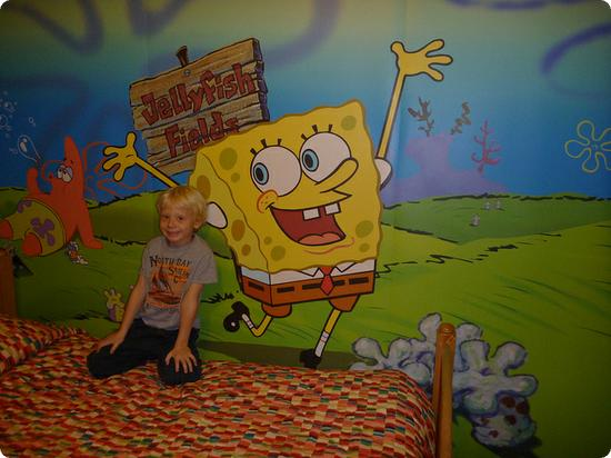 SpongeBob room at the Nickelodeon Suites Resort
