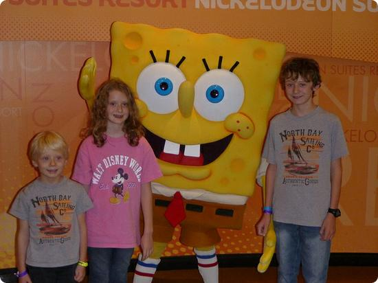 SpongeBob at the Nickelodeon Suites Resort