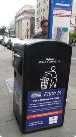 Solar Trash Compactor in Portland