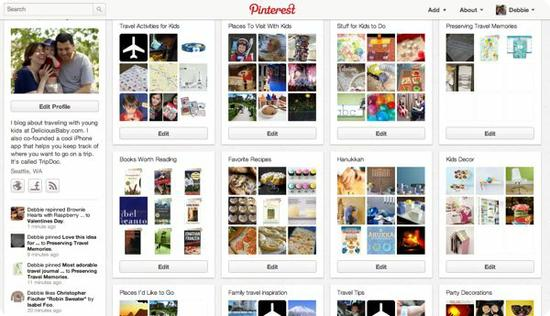 Some of my boards on Pinterest